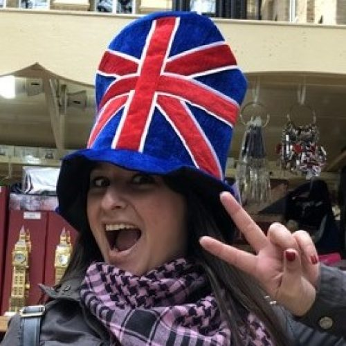 Union Jack Hat Lady _ Square